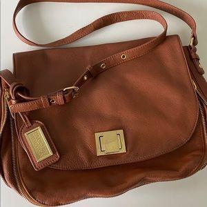 Badgley Mischka brown leather crossbody bag